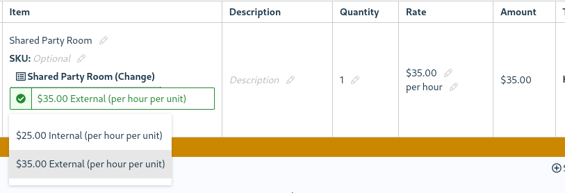 Invoice items can now be linked to resources for quick setup!